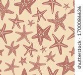 starfish vector seamless... | Shutterstock .eps vector #1700086636