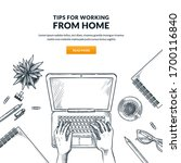 work at home  remote work ... | Shutterstock .eps vector #1700116840