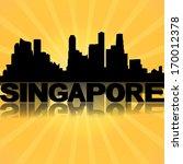singapore skyline reflected... | Shutterstock . vector #170012378