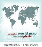 conceptual world map from round ... | Shutterstock .eps vector #170014904