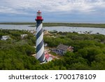 Aerial View Of Lighthouse In St....