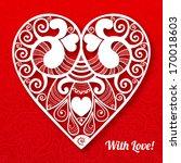 vintage ornamental valentines...   Shutterstock .eps vector #170018603