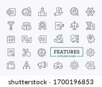 vector linear icons of business ... | Shutterstock .eps vector #1700196853