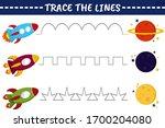 trace line worksheet for kids... | Shutterstock .eps vector #1700204080