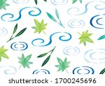 water surface and fresh green...   Shutterstock . vector #1700245696