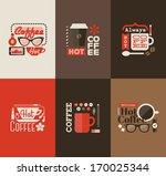 hot coffee. set design elements   Shutterstock .eps vector #170025344