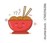 bowl of noodle vector... | Shutterstock .eps vector #1700256286