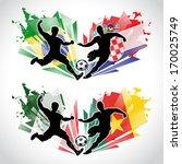 vector illustration of soccer... | Shutterstock .eps vector #170025749