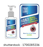 hand sanitizer label design... | Shutterstock .eps vector #1700285236