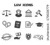 law icons  mono vector symbols | Shutterstock .eps vector #170028779