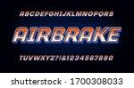 Airbrake Alphabet  A Racing Or...
