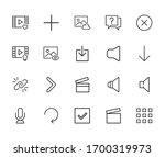 general line icons set. stroke...