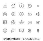 big set of signs line icons....