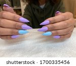 Stiletto Nail Shape With Gel...