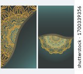 card template with floral... | Shutterstock .eps vector #1700339356