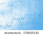 financial data on a monitor | Shutterstock . vector #170035133