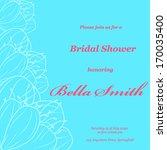 wedding or invitation card.... | Shutterstock .eps vector #170035400