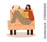 Women Reading A Book On The...