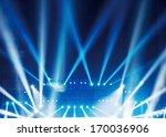 multiple spotlights on a... | Shutterstock . vector #170036906