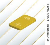 3d gold bar with luxury... | Shutterstock .eps vector #1700370256