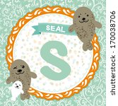 abc animals  s is seal.... | Shutterstock . vector #170038706
