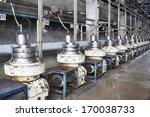 latex machine in factory