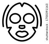 moisturizing face mask icon.... | Shutterstock .eps vector #1700391163