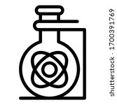 flask with atom icon. outline... | Shutterstock .eps vector #1700391769