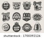 vintage monochrome beer designs ... | Shutterstock . vector #1700392126