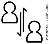 vertical communication. icon...