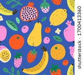 fruit mix pattern  summer sweet ... | Shutterstock .eps vector #1700413360