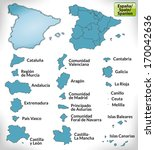 map of spain with borders in...   Shutterstock . vector #170042636