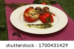 Dish With Stuffed Red Pepper...