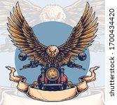 vector illustration of eagle...   Shutterstock .eps vector #1700434420