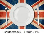 plate  fork and knife on grunge ...
