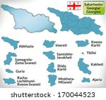 map of georgia with borders in...   Shutterstock . vector #170044523
