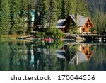 Wooden House At Emerald Lake ...