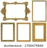 set of golden frames for... | Shutterstock . vector #1700479840