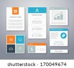 infographic flat financial...