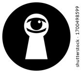 eye in keyhole  voyeurism icon... | Shutterstock .eps vector #1700498599