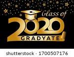 class graduation banner 2020....   Shutterstock .eps vector #1700507176