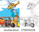 cartoon vehicle   illustration... | Shutterstock . vector #170054228
