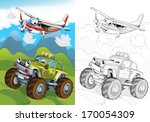 cartoon vehicle   illustration... | Shutterstock . vector #170054309