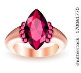 ring with gemstone isolated on... | Shutterstock .eps vector #170061770
