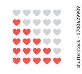 hearts rating on white... | Shutterstock .eps vector #1700629909