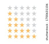 stars rating on white background | Shutterstock .eps vector #1700631106