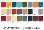pantone earthtones colour... | Shutterstock .eps vector #1700632333