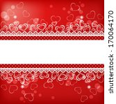 valentine s background with... | Shutterstock .eps vector #170064170