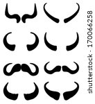 silhouettes of buffalo horns ... | Shutterstock .eps vector #170066258
