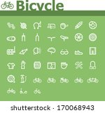 vector bicycle icon set | Shutterstock .eps vector #170068943